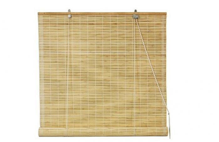 Master the art of feng shui with matchstick roll-up blinds ($22-$46) made from sustainable bamboo.