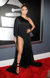 The dramatic slit on Jennifer Lopez's one-shoulder black gown at the 2013 Grammy Awards revealed her equally sexy footwear.