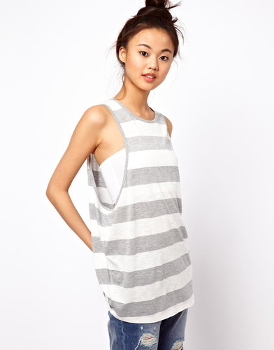 ASOS Tank Top with Oversized Stripe