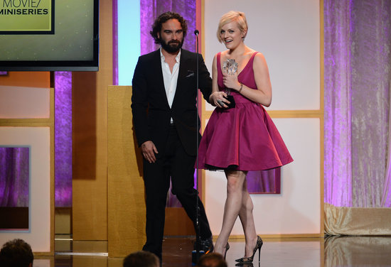 Elisabeth Moss walked off the stage with her award.