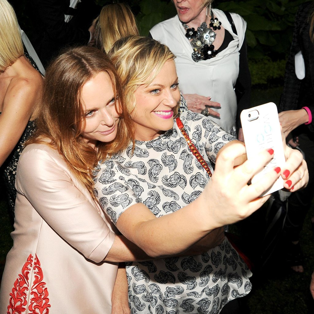 Amy Poehler snapped a selfie with Stella McCartney at Stella's Spring 2014 presentation in NYC.
