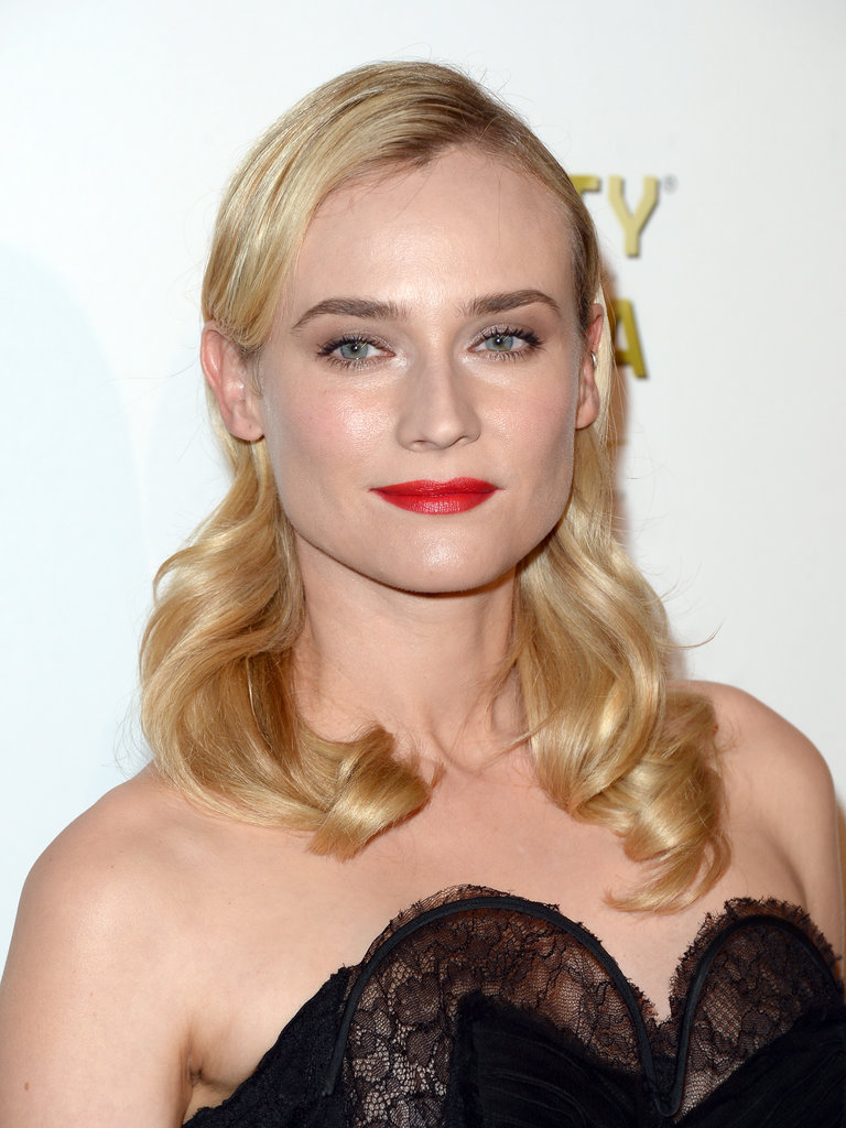 Always one to stun on the red carpet, Diane Kruger opted for vintage waves and a beautiful red lipstick hue.