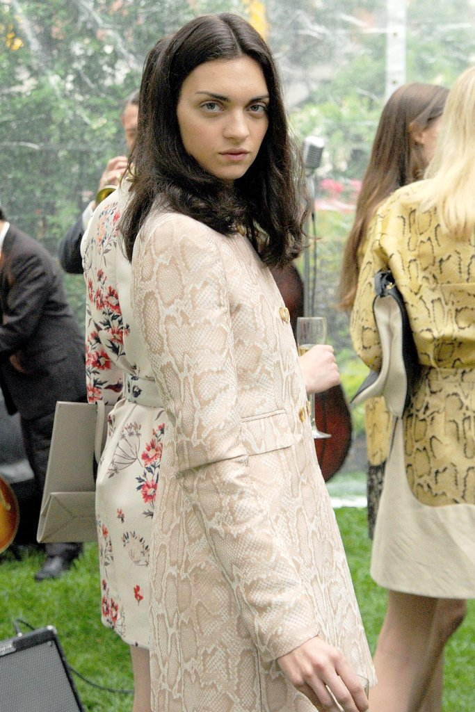 A model at Stella McCartney's Resort 2014 presentation. Source: Billy Farrell/BFAnyc.com
