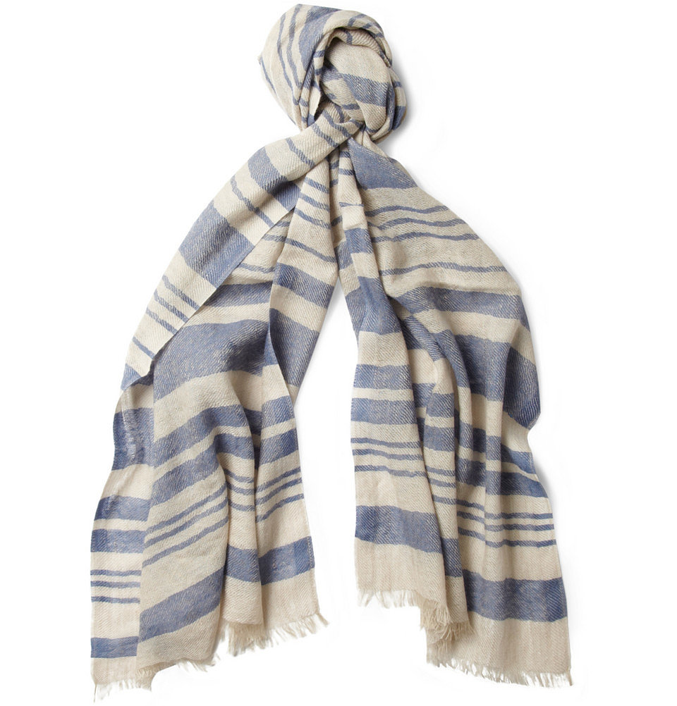 Loro Piana Cashmere and Linen Scarf