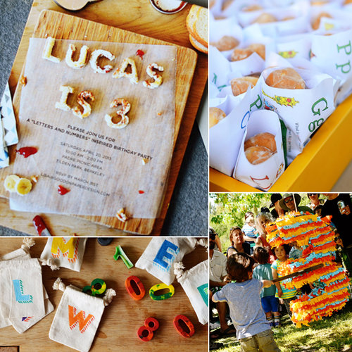 A DIY Numbers-and-Letters-Themed Birthday Party