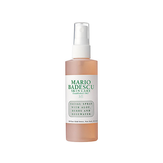 Spritz Mario Badescu Facial Spray ($7) while you're out in the sun for an instant cooling sensation. It has rosewater, aloe, and herbs to keep your skin hydrated during the most intense heat waves.