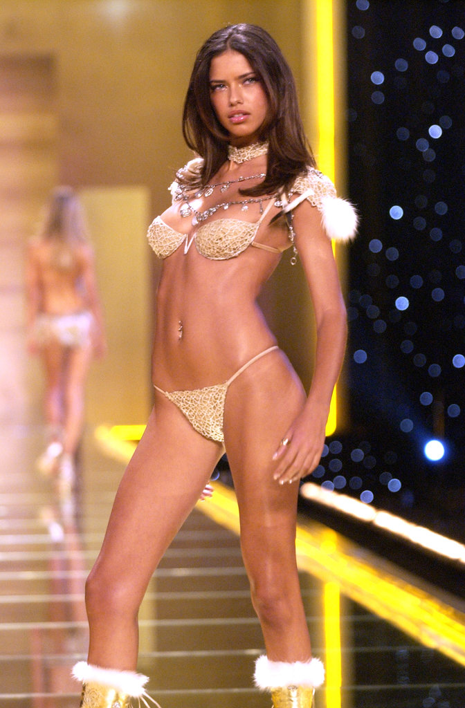 In NYC, Adriana Lima wore seriously skimpy lingerie to walk in the Victoria's Secret Fashion Show in November 2002.
