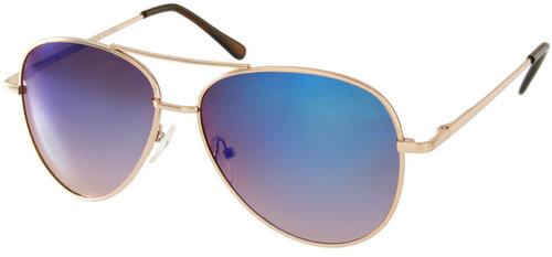 ASOS Aviator Sunglasses With Blue Revo Lens