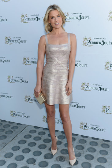 Ali Larter shined in a metallic minidress and neutral add-ons at an event in NYC.
