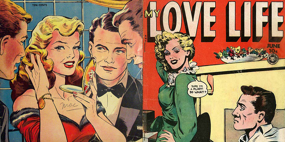 Love Dramatized in Vintage Romance Comics