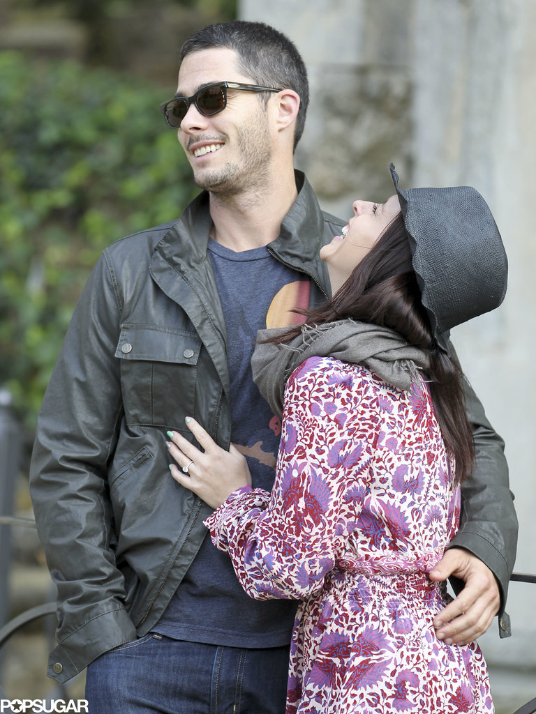 Jennifer Love Hewitt and Brian Hallisay laughed while in Florence, Italy.