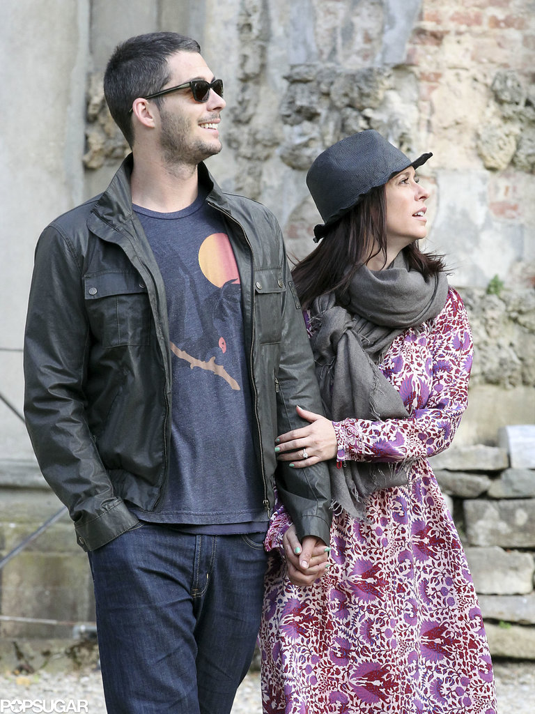 Jennifer Love Hewitt and Brian Hallisay were hand in hand in Florence, Italy, in May 2013.