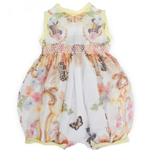 Roberto Cavalli Butterfly & Floral Bubble Romper