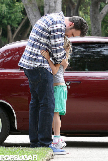 Ben Affleck planted a kiss on Violet.