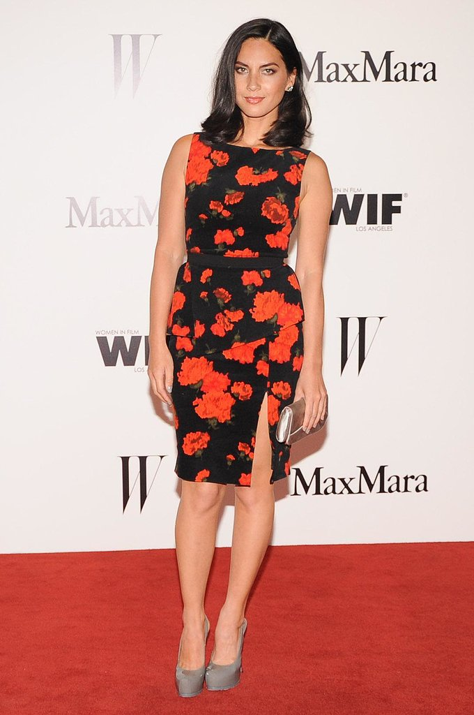 Olivia Munn at the Max Mara Face of the Future party in Beverly Hills.  Photo courtesy of Owen Kolasinski/BFAnyc.com