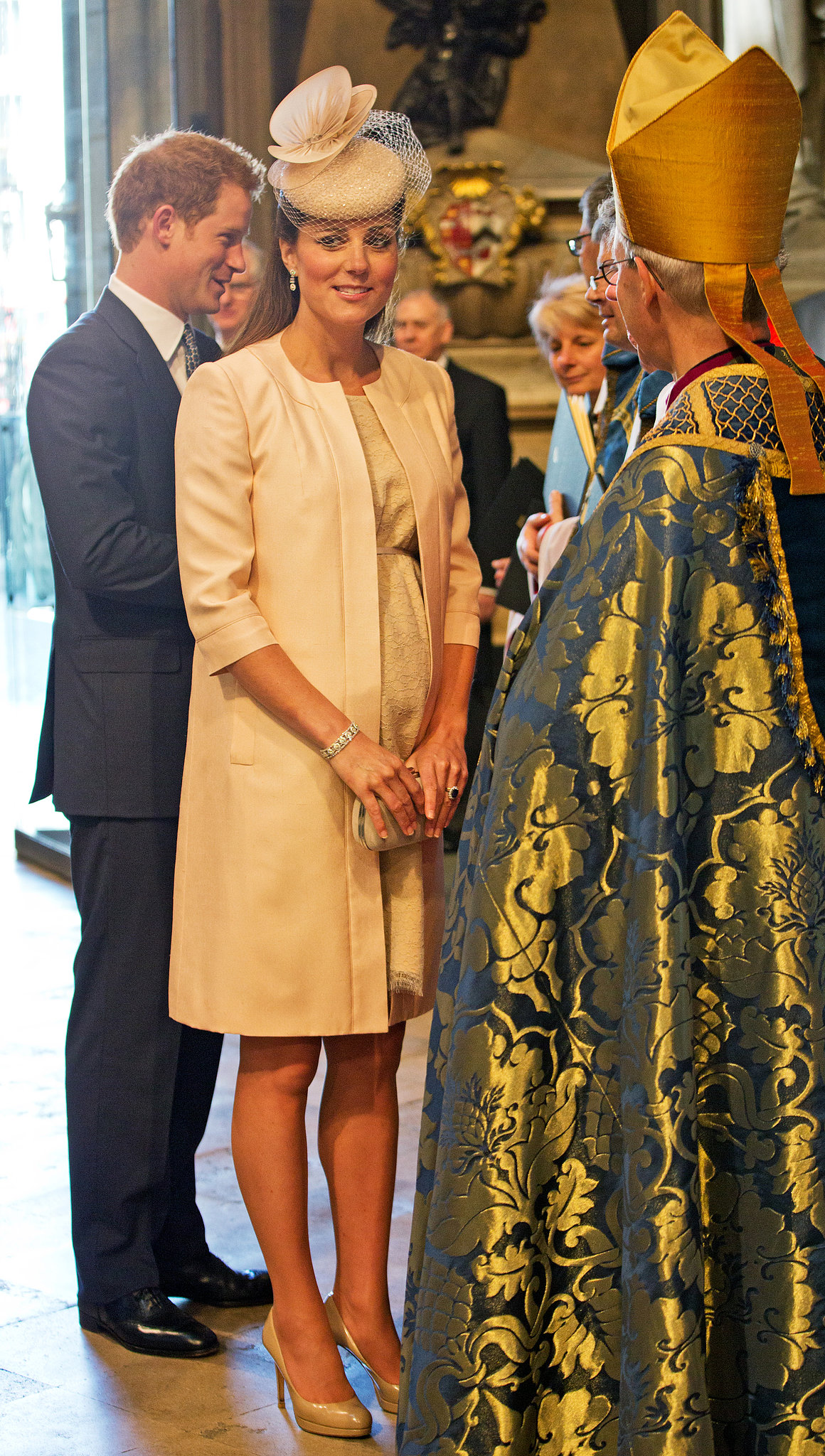 She attended Queen Elizabeth II's 60th coronation anniversary service at Westminster Abbey in London in June 2013.