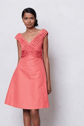 Ruched Crossing Dress