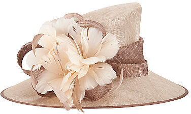 John Lewis Neave Structured Feather Hat
