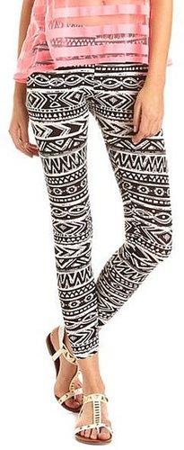 Aztec Cotton Spandex Legging
