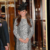 Kate Middleton Selects a Statement Coat For Her Final Pre-baby Appearance