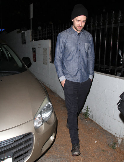 Justin Timberlake left the Myspace event in LA.
