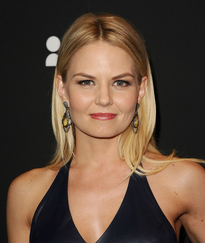 Glowing skin and silky, straight hair made up Jennifer Morrison's easy and simple look for the evening.