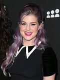With her lavender hair flowing, Kelly Osbourne opted for black eyeliner and hot-pink lipstick.