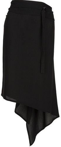 Ann Demeulemeester asymmetrical ruffle skirt