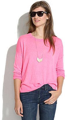 Linen studio sweater