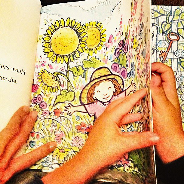Gisele Bündchen enjoyed a bedtime story with Ben Brady one night.  Source: Instagram user giseleofficial