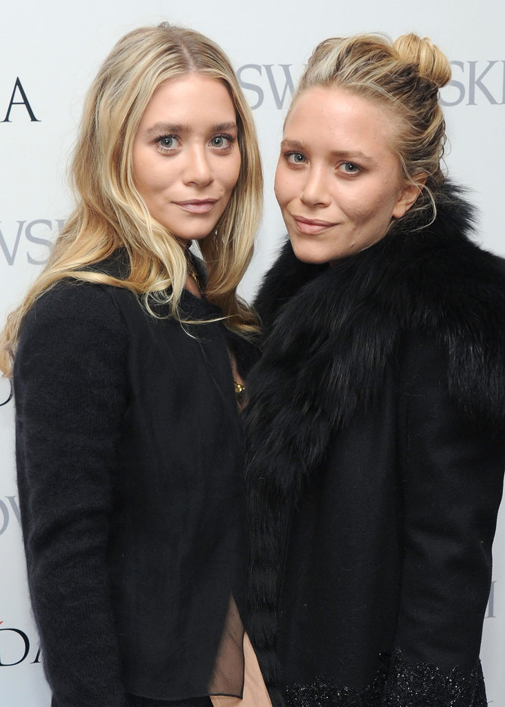 At this year's CFDA Award nominations, Ashley and Mary-Kate both had light blond hair, which they paired with a nude makeup palette. Ashley wore her hair down in waves, while Mary-Kate opted for a chic topknot.