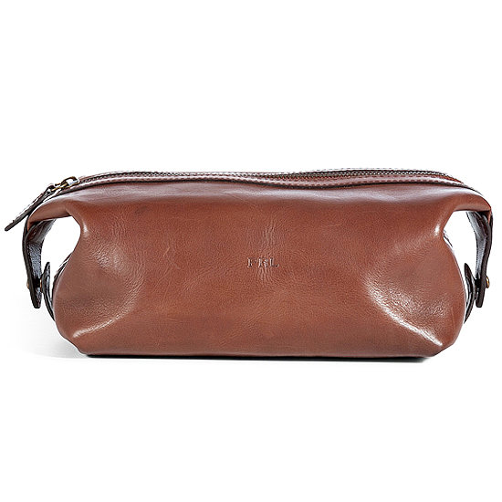 Ralph Lauren Brown Leather Dopp Kit