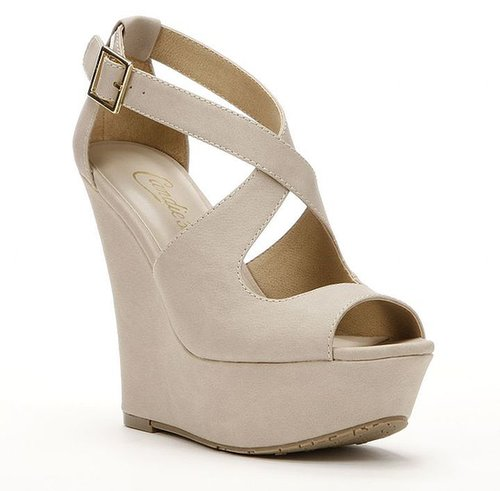 Candie's peep-toe platform wedge sandals - women