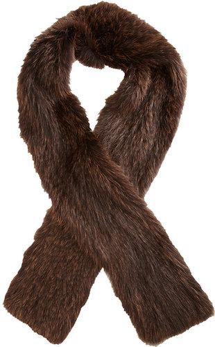 Barneys New York Knit Fur Scarf