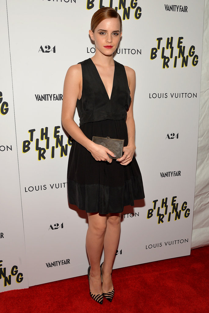 Emma Watson chose a ladylike LBD for the New York screening of her new film The Bling Ring on June 11.