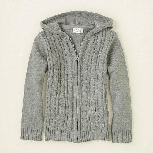 Uniform zip-up hoodie sweater