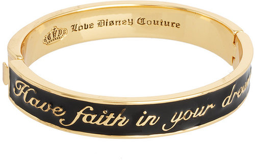 Disney Couture Exclusive To ASOS Have Faith In Your Dreams Black Enamel Bangle