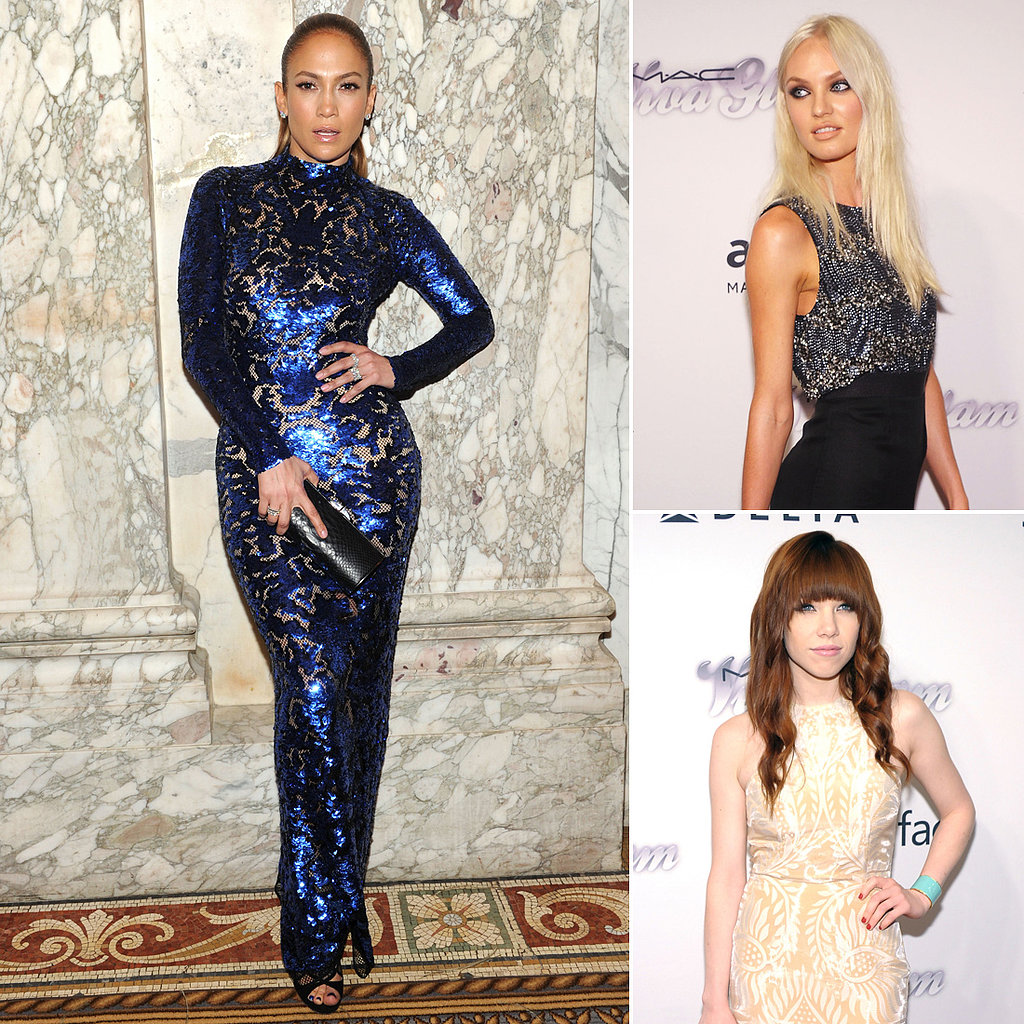 J Lo Gets Honored by Her Fashionable Friends at an amfAR Gala
