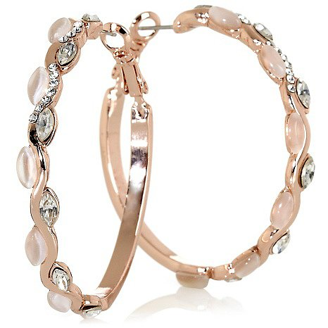 "Roberto Faraone Mennella ""Petali"" White Stone and Crystal Rosetone Pavé Hoop Earrings Log in to POPSUGAR and tell us which of the following HSN.com jewelry offerings is No. 1 on your Summer must-have list at the end of this poll!"