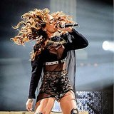 Talk about a hair whip. Rihanna showed off her long locks at one of her concerts. Source: Instagram user badgalriri