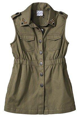 D-Signed Girls' Denim Vest - Green