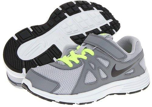 Nike Kids - Revolution 2 (Toddler/Youth) (Wolf Grey/Cool Grey/Volt/Black) - Footwear