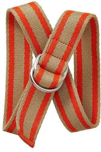 Striped web belt