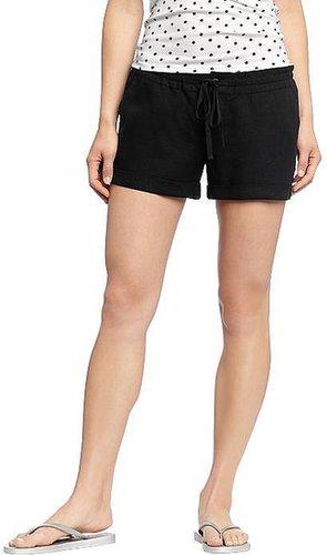 """Women's Drawstring Linen-Blend Shorts (3-1/2"""")"""