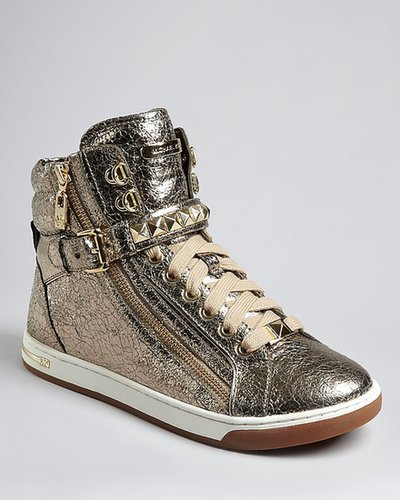 MICHAEL Michael Kors High Top Lace Up Sneakers - Glam