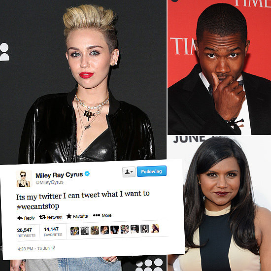 Tweets of the Week: Miley Cyrus, Mindy Kaling, Frank Ocean & More!
