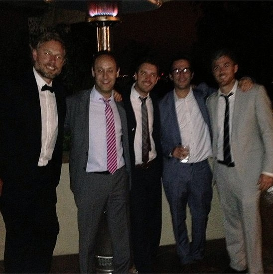 Eric Johnson and Dave Annable took advantage of a guys' photo op in San Diego for their pals Kathryn Sykora and Chris Hetherington's wedding in June 2013. Source: Instagram user asands78