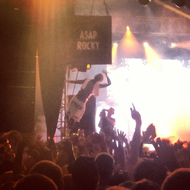 If you're in the mood for a serious party, we suggest checking out A$AP Rocky live. Get ready for lots of dancing, hands in the air, and even a little crowd surfing. This guy really knows how to put on a show. Source: Instagram user popsugarfashion