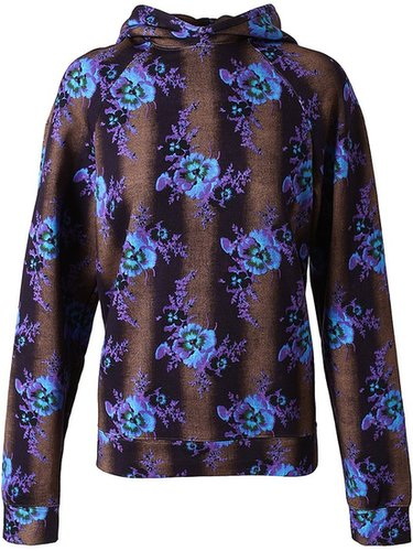 Christopher Kane Floral Printed Cotton Sweatshirt