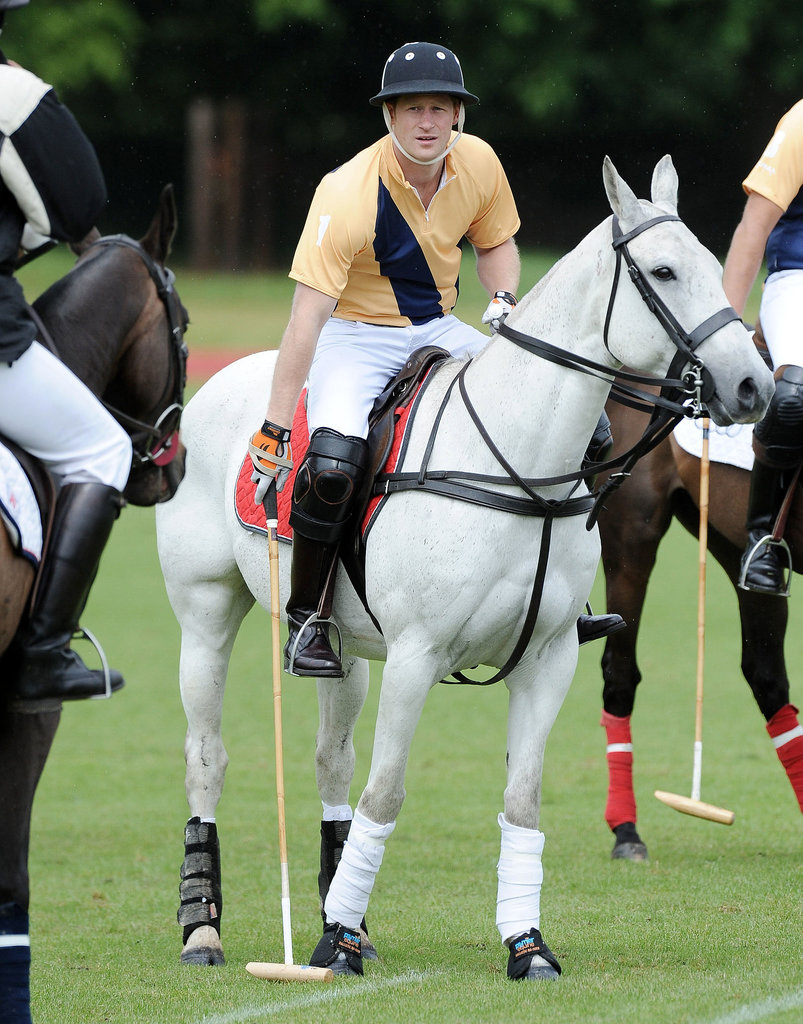 Prince Harry is an avid polo player.